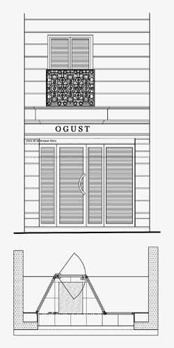 Modification de l'entrée et de la façade du Magasin Ogust