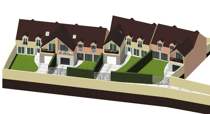Image Principale - Quatre maisons mitoyennes à Orgeval