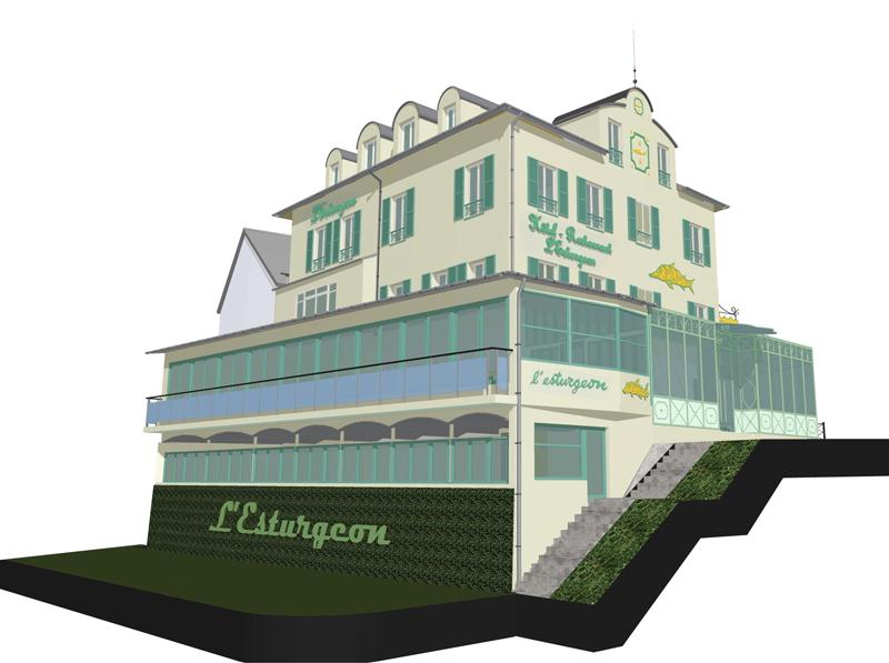 Image Principale - Réhabilitation d'un hôtel restaurant à Poissy