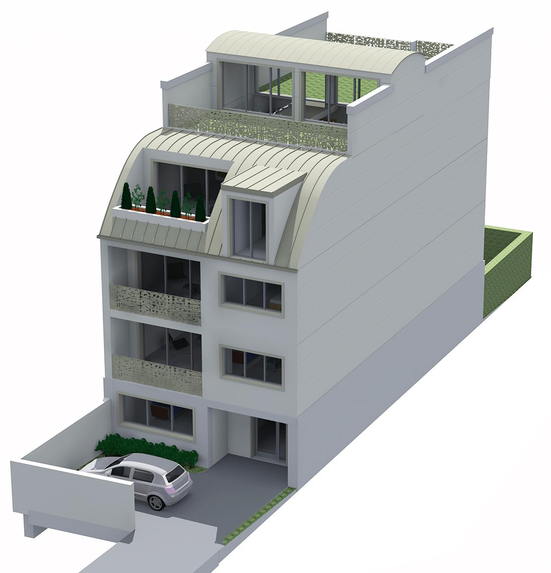 maison chatou yako architecte plaisir 78 yvelines. Black Bedroom Furniture Sets. Home Design Ideas