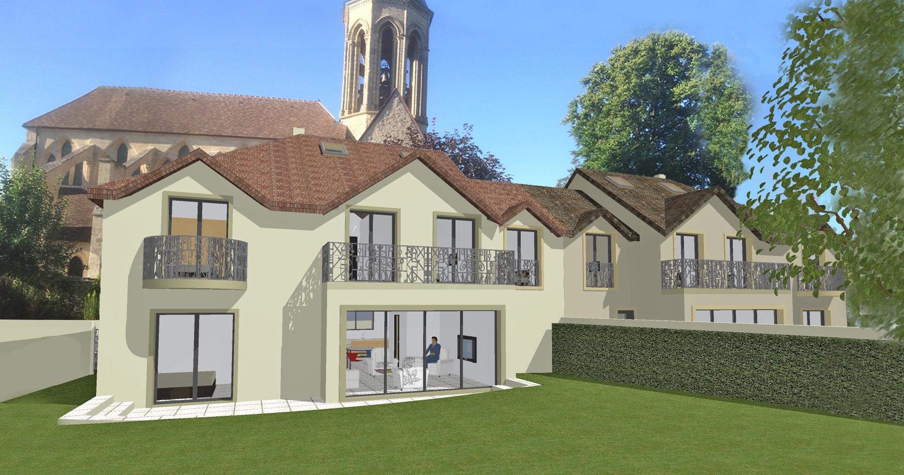 Image Principale - 2 maisons jumelles à Thiverval