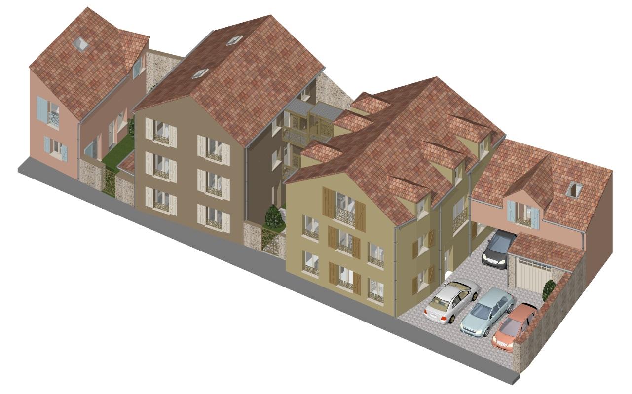 Image Principale - Transformation de bâtiments agricoles en 8 logements à La Falaise