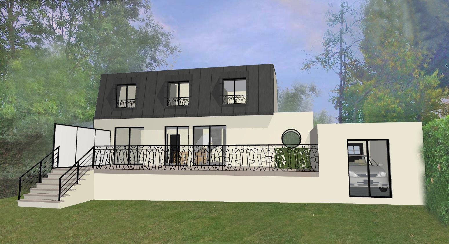 extension surelevation d une batisse rueil malmaison yako architecte plaisir 78 yvelines. Black Bedroom Furniture Sets. Home Design Ideas